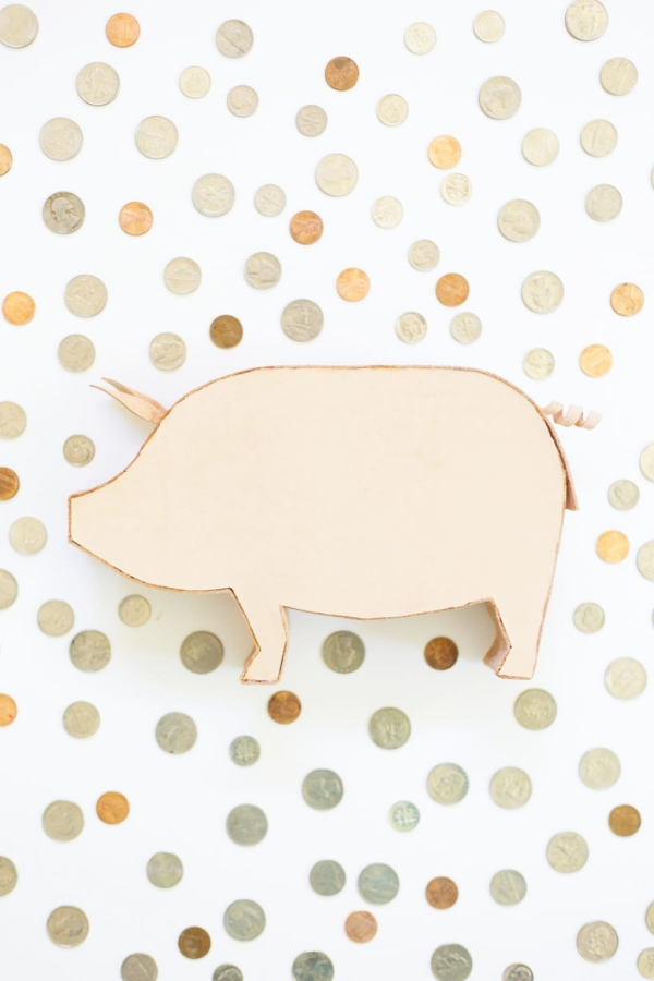 Sparschwein basteln – So haben Sie zu Silvester bestimmt Schwein spardose echtes schweine leder