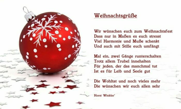 Weihnachstgrüsse und lustige Weihnachtssprüche für Freunde gedicht