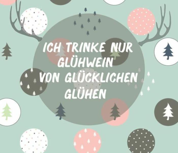 Weihnachstgrüsse und lustige Weihnachtssprüche gluehwein