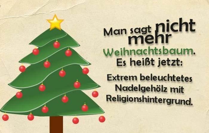 Weihnachstgrüsse und lustige Weihnachtssprüche tannenbaum
