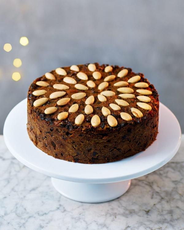 Weihnachtlicher Kuchen aus Schottland – Dundee Kuchen traditionell zubereiten mandeln kuchen früchte