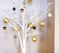 Glamouröse Weihnachtsdeko in Gold und Schwarz, die Eleganz und Raffinesse ausstrahlt