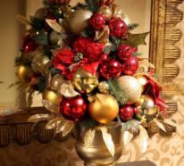 Weihnachtsdeko in Rot und Gold – opulent und sehr stilvoll!
