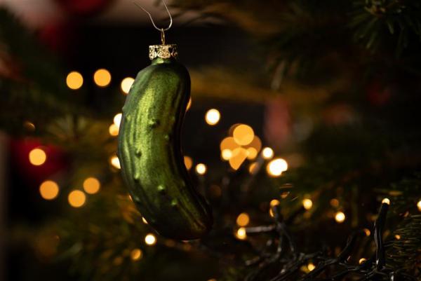 Weihnachtsgurke mysteriöser Christbaumschmuck mit vielen Legenden verbunden