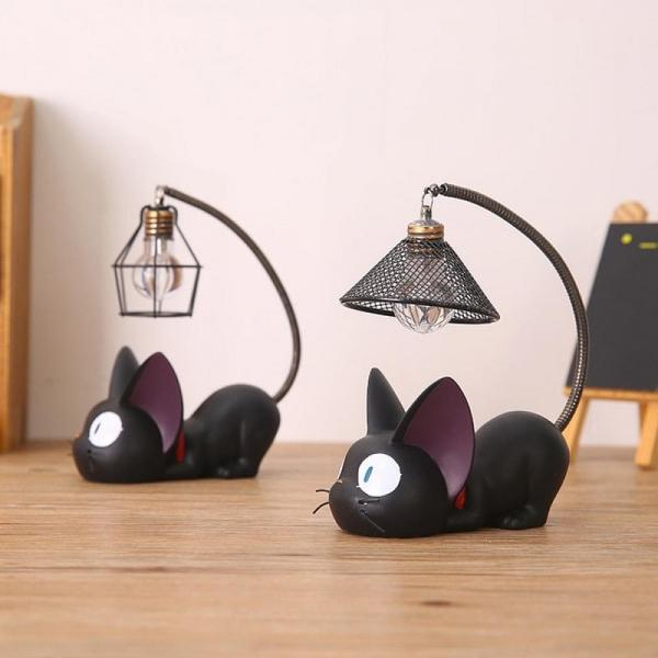 Witzige und praktische Online Schrottwichteln Ideen und Tipps tischlampe lustig niedlich schwarze katze