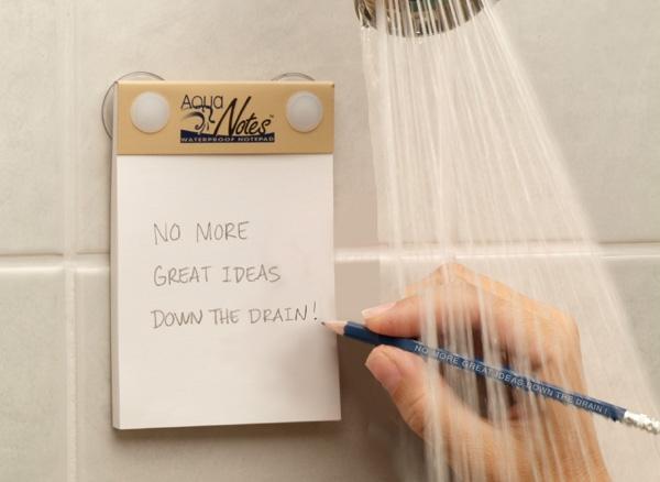 Witzige und praktische Online Schrottwichteln Ideen und Tipps wasser abweisende notizen schreiben