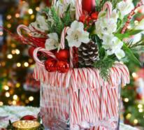 Lustige Dekoideen mit Zuckerstangen zu Weihnachten, die gute Laune schaffen
