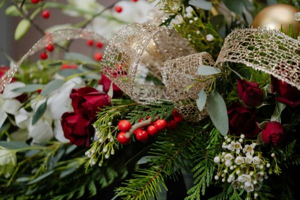 blumensträuße als weihnachtsgeschenk