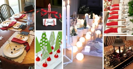 diy tischdeko weihnachten ideen