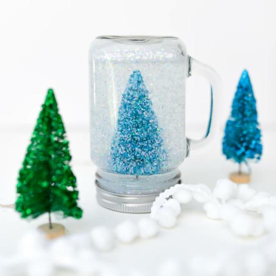 diy weihnachtsgeschenke schneekugel selber machen