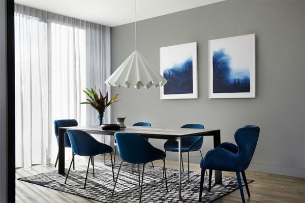 esszimmer interieur wandfarbe ultimate gray pantone farbe des jahres 2021