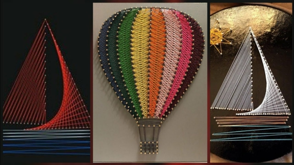 fadenbilder heißluftballon boot