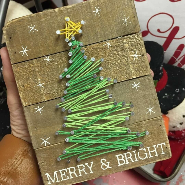 fadenbilder weihnachtsbaum weihnachtsgeschenk