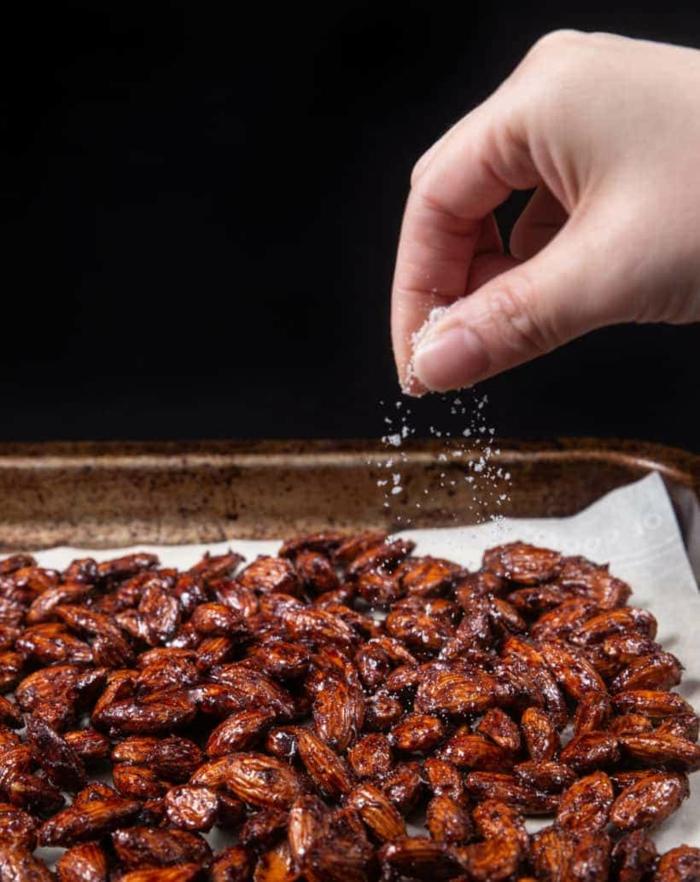gebrannte Mandeln selber machen wie vom Weihnachtsmarkt gesalzen