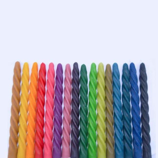 gedrehte Kerzen fabelhafte DIY farbige Twisted Candles