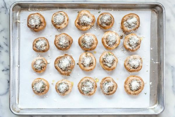 gefüllte pilze im ofen fürs silvestermenü