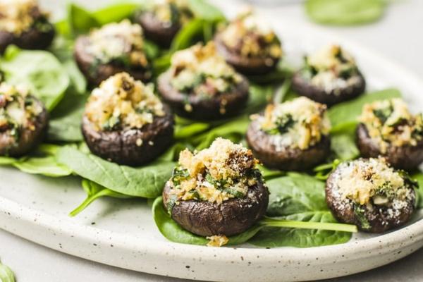 gefüllte pilze vegan zubereiten fürs silvestermenü