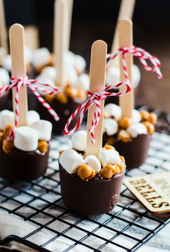 heiße schokolade am stiel diy weihnachtsgeschenke