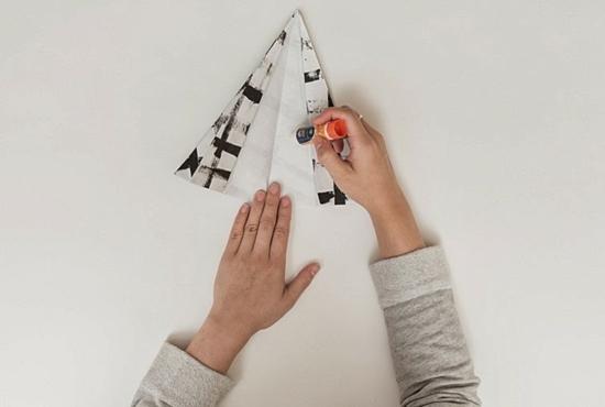 papier tischdeko weihnachten anleitung