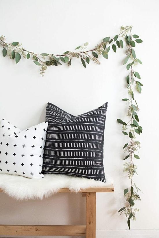 puristische weihnachtsdeko diy Eukalyptus Girlande