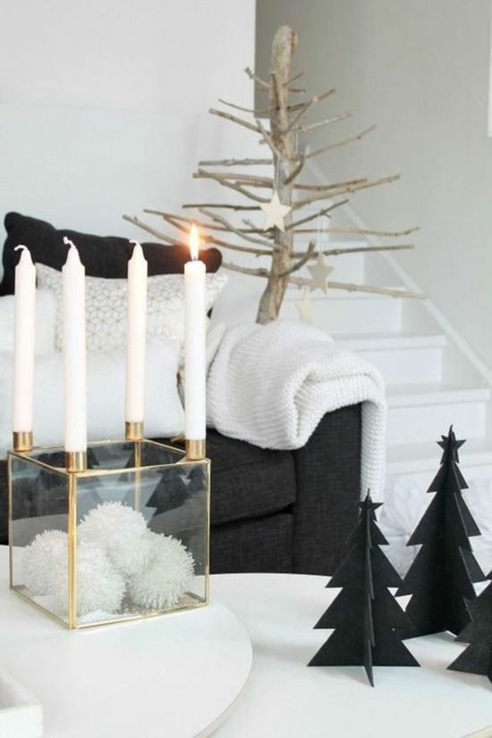 puristische weihnachtsdeko scandy style
