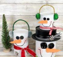 Schneemann basteln – 60 super einfache DIY-Ideen für die ruhige Winterzeit
