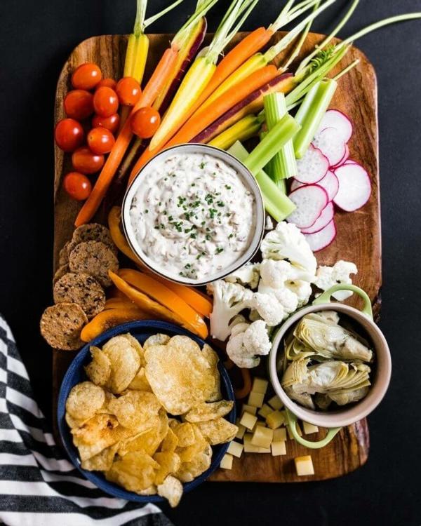 sillvestermenü gesunde snacks