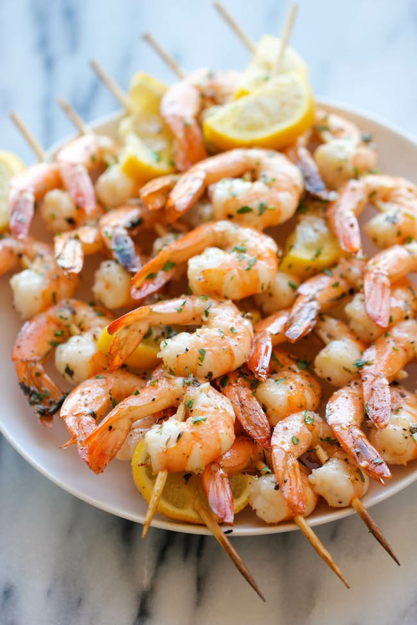 sillvestermenü shrimps shashlik
