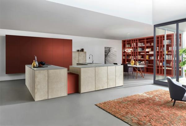 terrakotta küchengestaltung küchenfronten offener wohnplan