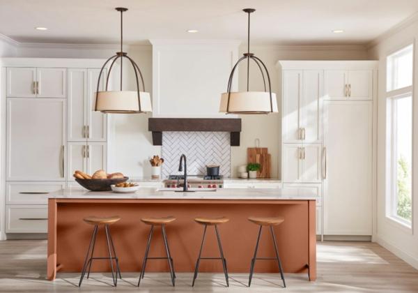 terrakotta küchentrends 2021 kücheninsel