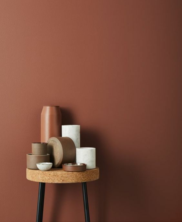 terrakotta wandfarbe vase wohntrends 2021