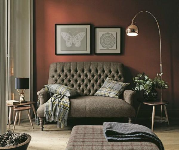 terrakotta wandfarbe wohnzimmer