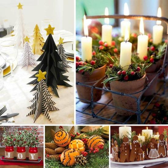 tischdeko weihnachten orangen gewürze tannengrün kerzen