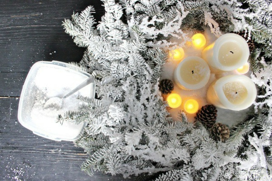 tischdeko weihnachten weihnachtskranz selber machen