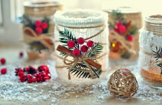 tischdeko weihnachten windlichter basteln