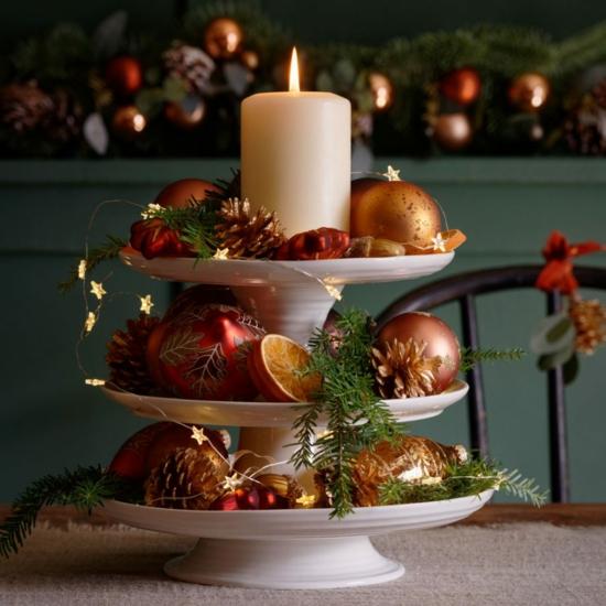 tortenständer tischdeko weihnachten