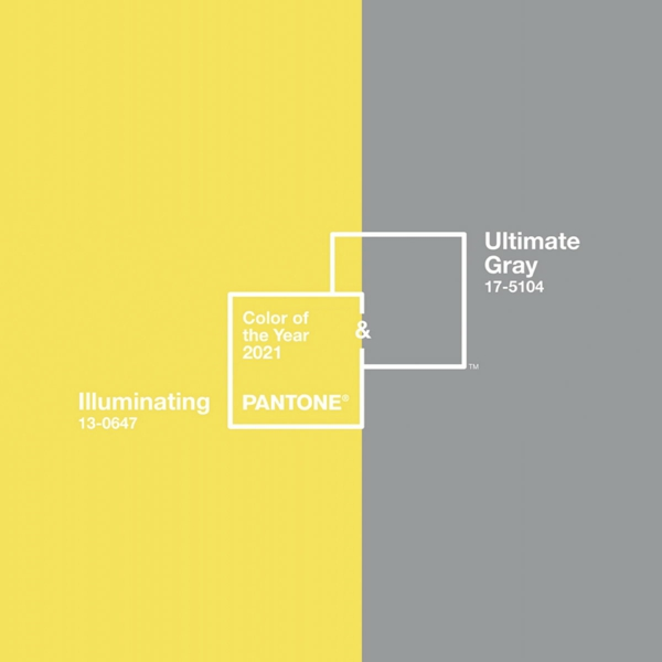 ultimate gray und illuminating yellow pantone farbe des jahres 2021