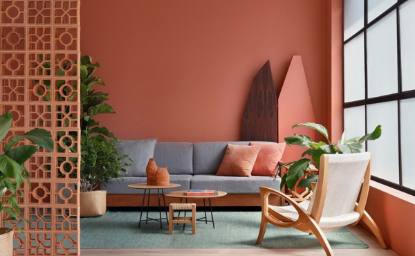 wandfarbe terrakotta wohntrends 2021