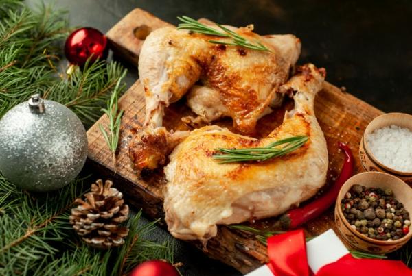 weihnachtsgewürze rosmarin hähnchenschenkel