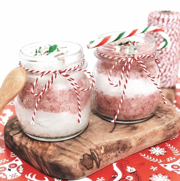 zuckerpeeling selber machen als weihnachtsgeschenk