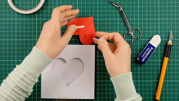 3D Klappkarte basteln zu Valentinstag – coole Ideen und Anleitungen einfache anleitung karte diy