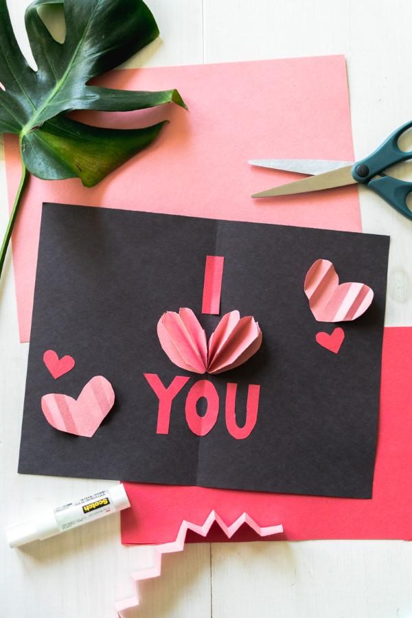 3D Klappkarte basteln zu Valentinstag – coole Ideen und Anleitungen ich liebe dich karte diy