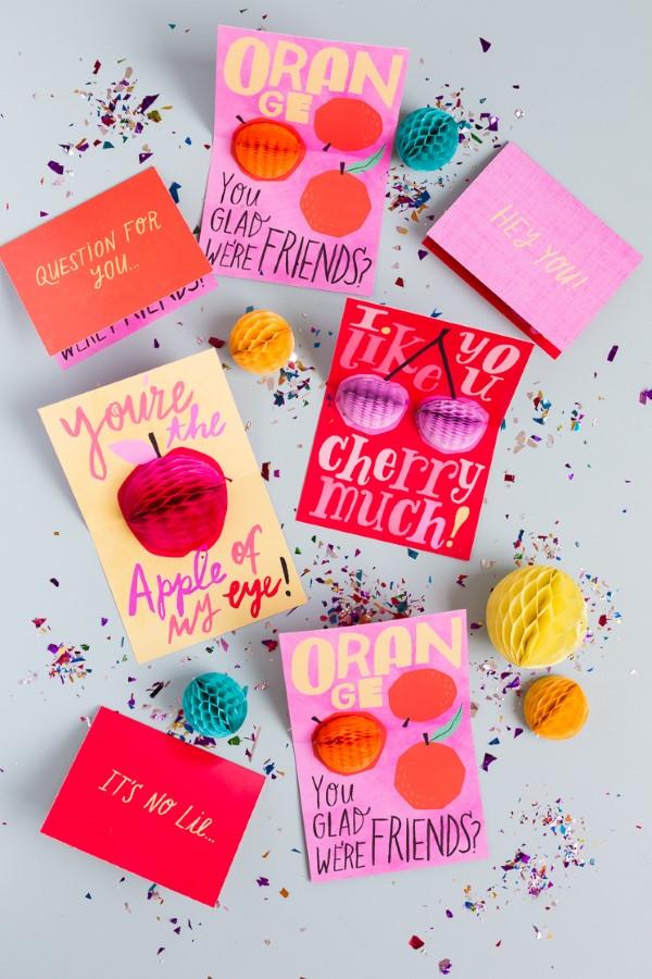 3D Klappkarte basteln zu Valentinstag – coole Ideen und Anleitungen karte ideen früchte romantisch