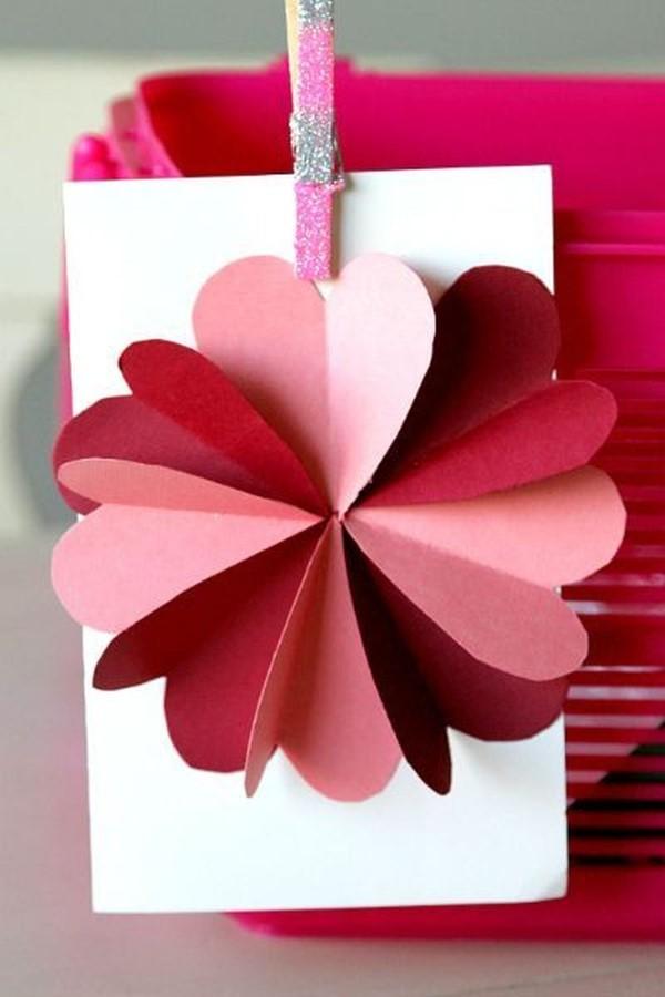 3D Klappkarte basteln zu Valentinstag – coole Ideen und Anleitungen liebe blume karte diy