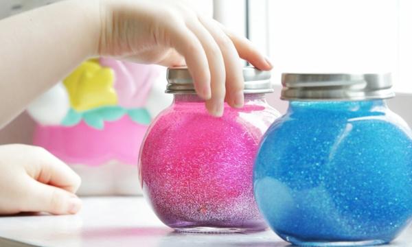 Achtsamkeitsübungen für Kinder Glizerglas basteln