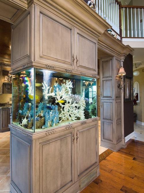 Το ενυδρείο στο σπίτι φέρνει τον πολύχρωμο υποβρύχιο κόσμο στον δικό σας ελκυστικό εσωτερικό σχεδιασμό [19659010] Πόσο μεγάλο πρέπει να είναι το ενυδρείο σας στο σπίτι; </strong></h3> <p style=