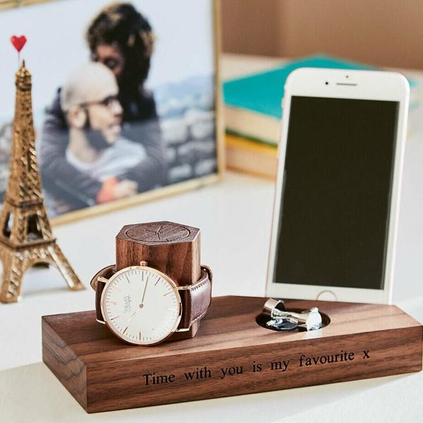 Das perfekte Valentinsgeschenk für ihn wählen oder basteln – Tipps und Ideen armbanduhr handy stand tisch (Custom)