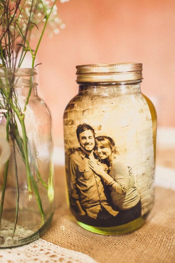 Das perfekte Valentinsgeschenk für ihn wählen oder basteln – Tipps und Ideen diy laterne mit foto einmachglas (Custom)