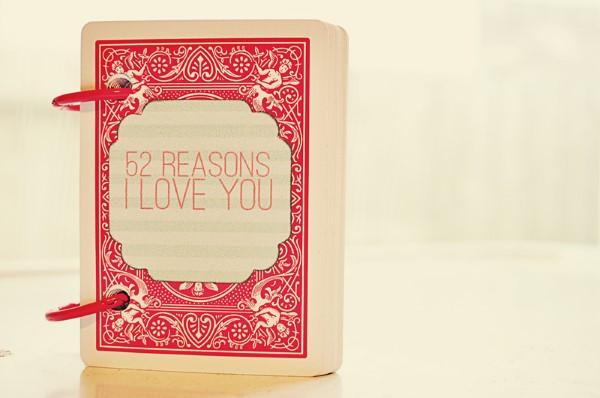 Das perfekte Valentinsgeschenk für ihn wählen oder basteln – Tipps und Ideen gründe warum ich dich liebe (Custom)
