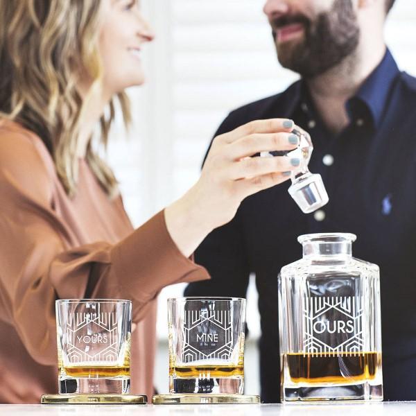 Das perfekte Valentinsgeschenk für ihn wählen oder basteln – Tipps und Ideen karaffe gläser kristallglas (Custom)